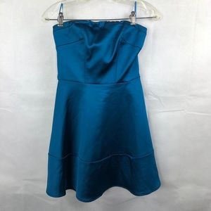 Express Strapless Dress size 0 NEW NWOT Turquoise